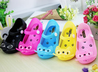 Wholesale 30pairs summer style Baby Boys Girls Sandals Mini Melissa Kids shoes Cute Cat Rubber Jelly Children Beach Shoes HX