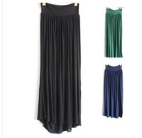 maxi skirt and dress - 10 COLORS Europe and the United States storm simmias modal maxi dress skirt fairy skirt A word skirt hem down dress LJJA2036