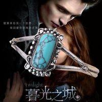 Wholesale 2016 New Arrival Movie Bracelet Twilight Bella Bangle Vintage Silver Plated Natural Turquoise Alloy Bracelet For Women ZJ