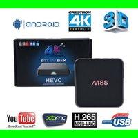 smart tv - Newest M8S TV BOX Amlogic S8812 Quad Core Android Kitkat K2K GB GB google smart ott tv box Kodi14 XBMC WIFI bluetooth Airplay
