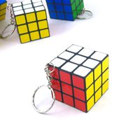puzzle ring - Third order of order Rubik Cube keychain keychain made rotatable third order of order keychain key ring