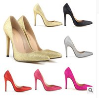 Wholesale Women Pumps Sexy Red Bottom Pointed Toe High Heels Shoes Woman Brand New Design Wedding Party Shoes On Sale