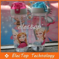 Wholesale 2 Colors New FROZEN Plastic Water Bottle Kids Cartoon Drinkware Children Cute Cup Tea Kettle Gift Frozen C20