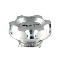 Wholesale Spoon Racing Oil Filter Cap Spoon Aluminium Car Fuel Tank Cap Cover Silver