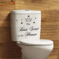 Wholesale best seat in the house waterproof wallpaper for bathroom wall tile stickers toilet decal home decoration