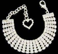 Wholesale Dog Necklace Rhinestones Crystal Puppy Necklace Cat Necklace Pet Jewelry Rhinestones