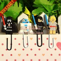 Wholesale 4pcs set Cute Star Wars DIY Bookmarkers Cartoon Paperclips Kids Learning Filing Supplies for Books Pages Holder Kids Gifts Toys