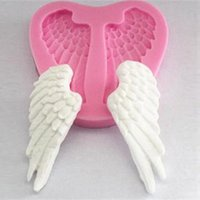 Wholesale Angel Wings Silicone Mold DIY Baking Sugarcraft Mould Fondant Cake Decoration Tools Cookie Cutter order lt no track