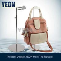 Wholesale YEON Metal polish bag rack display stand fashion handbag display stand holder bulk order available