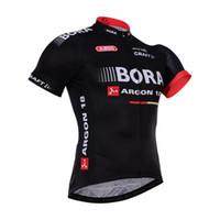 Wholesale 2016 Team Bora Argon Cycling Shirts Short Sleeve Top Cycle Jersey Riding Sportswear Men Cycling Clothing Size XS XL