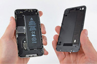 Wholesale Back Glass Battery Housing Door Cover Replacement Part for iphone G Black White colors