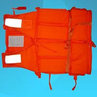 Wholesale Popular Orange Prevention Flood Foam Swimming Life Jacket Vest Whistle for Adult A2599