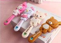 Wholesale Cute Girl s Princess Comb Cartoon Style Portable Plastic Hairbrush Children Hair Accessaries bc001 Best Quality