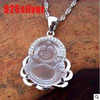 ads heating - S925 sterling silver pendant white crystal Buddha pendant necklace pendant clavicle Ms supply hot heat ADS excluding necklace