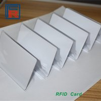 access cost - 500pcs Low cost rfid card mhz white blank PVC contactless cards for access control ID card