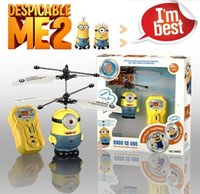 Wholesale Minion Sensor Flying Fairy RC Helicopter Xmas Despicable ME Ch RC Helicopter Kids Toy Gifts free ship