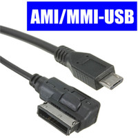 Wholesale New MICRO USB MALE AUX AUDIO CABLE ADAPTER CAR MUSIC INTERFACE FOR AUDI AMI MMI VW ABT order lt no tracking