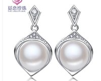 Wholesale chaming silver natural n pre color pearl lady s earings lhpmz hdfdsf