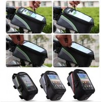 Wholesale 2014 newest quot Waterproof Cycling Bike Bicycle Frame Pannier Front Tube Bag For Cell Phone