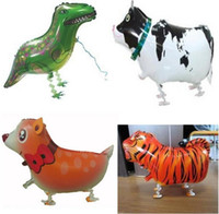 baby farm pets - Hot selling Various mixed walking my own pet cartoon farm balloons lovely animals toys mix dogs baby kids birthday gifts party decoration