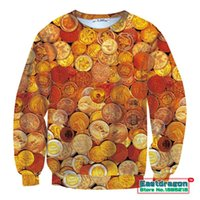 active coin - 2015 New Autumn Dollar Coins Fashion D Print Sweatshirts Women Men Male Tops Thicken Pullovers Women Sweatshirts Hoodies Female