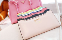 Wholesale Fashion Soft Leather women wallets Bowknot Clutch bag Long PU Card Purse wallet for womens