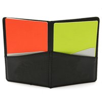Wholesale New Top Selling Special Offer Soccer Referee Folder Score Card Wallet Red Card And Yellow Match Record Cards
