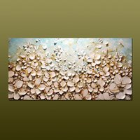 Wholesale 100 of the modern hand painted oil painting decorative painting abstract oil painting on the canvas of white flowers