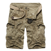arrival cargo shorts - New Arrival Fashion Cargo Shorts For Men Floral Pockets Designer High Quality Canvas Mens Camouflage Shorts Khaki Blue Army