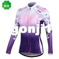 Wholesale SANTIC Lady Women Winter cycling long sleeve jersey Bicycle Cycling Bike Outdoor Sports Clothing Long Sleeve Jersey Shirt S XL