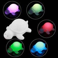 cheap 1pcs novelty cute off white multi color change led light turtle mood lamp night cheap mood lighting