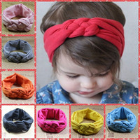 baby online sale - 2015 Baby Girls Hair Braided With Children Safely Cross Knot Hair Accessories Headband Elastic Cotton In China Online Cheap Sale