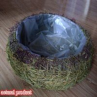 woven basket - Baby Baskets Grass Material Photography Studio Props with Hand woven Birds Nest New Baby Gift Baskets New Arrival D19