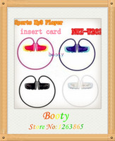 Wholesale nwz w262 walkman sports mp3 earphone w262 wireless earphone surpport GB to GB TF Micro SD Card FM Radio