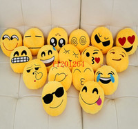 Wholesale 50pcs EMS Freeshipping Emoji cushion Poop Soft Smiley Emotion Ikea Sofa Cushion Stuffed Plush Toy Doll Gift