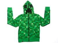 Wholesale 15pcs Hot Sale autumn winter camouflage minecraft coats minecraft hoodies minecraft clothes minecraft supplies Adult coat