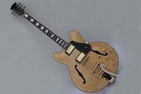 chinese guitars - Chinese guitar Jazz original mahogany hollow body F hole jade tuning pick ups guitar