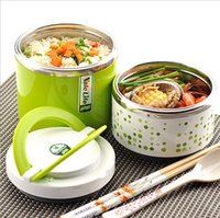 Wholesale lunch box two layers heat preservation colors bento box mess tin without Chopsticks spoon hot selling F