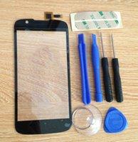 al por mayor herramientas chi-Al por mayor-Fly IQ 4413 IQ4413 Evo Chi 3 Capactive de pantalla táctil digitalizador reemplazo de cristal delante de la pantalla táctil Negro Shipping + herramientas