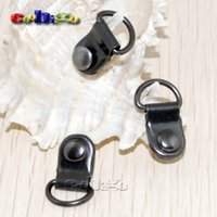 Wholesale quot mm Metal D Rings Black Plated Dee Rings For Shoes Lace Buckle Picture Frame Hangers FLQ072 B