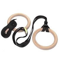Wholesale DHL free NEW Wooden Olympic Rings Set Gymnastic Crossfit Wood Gym Ring