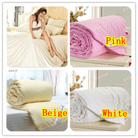 Wholesale amp retail mulberry silk quilt natual quilt comforter bedding all size filled with kg silk quilt free shippig