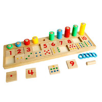 Wholesale Montessori toy Baby early Educational Raibow Wooden Math Teaching Toys