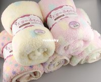 baby automobile - 2015 Autumn Winter Baby blanket Coral Fleece Blankets sleeping Carpet bath towel girl boy kids YE120