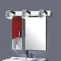 led bathroom mirror - LED Mirror Crystal Light Bathroom Crystal Wall Lamp Bright Mirror Front Wall light Wall Sconces Washroom Bedroom Makeup Mirror Wall Lamp DHL