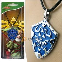 Wholesale 2015 new The Legend of Zelda Metal Pendant zelda mark necklace metal neck lace models shield Ocarina of time J010707