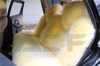 sheepskin car seat covers - Car Seat Covers Natural Australian sheepskin wool cushion winter new plush car pad seat covers yellow