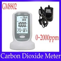 Wholesale Mini digital Carbon dioxide meter GM8802 with data hold function