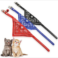 Wholesale New Fashion Adjustable Pet Scarf Collar Lovely Small Triangle Bandana Cat Scarf Collar