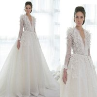 wedding dresses long sleeved - 2015 Europe and the new long sleeved lace large trailing bright yarn tailored bride wedding dress